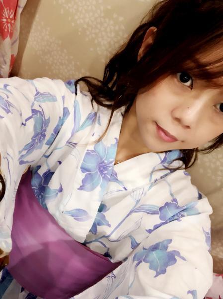 こんばんわーまりあです(^o^)今日はシンプルな浴衣でポニーテール...写真