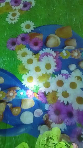 こんにちは。トモです(о´∀`о)屋内遊び♪歩くと花が咲いていくやつ(...写真