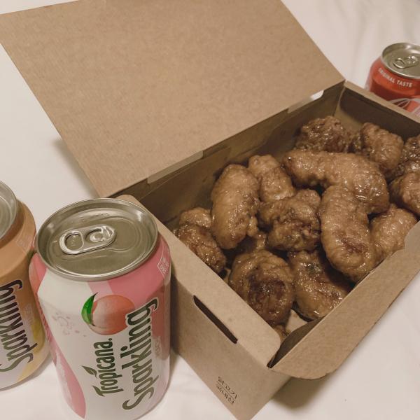˹ かんなまる ˼とっっても美味しかった韓国旅行の時のチキン( ⸝⸝⸝...写真