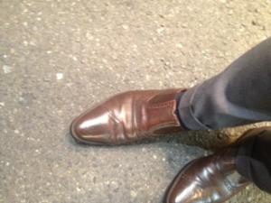 靴のメンテナンス( ^ω^ )