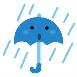 雨は嫌ですね