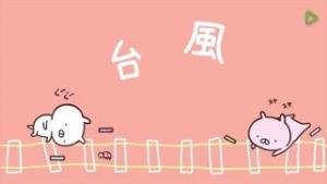 台風3号接近中(~_~;)