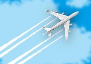 飛行機雲で天気予報。