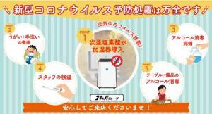 コロナウイルスの対策について